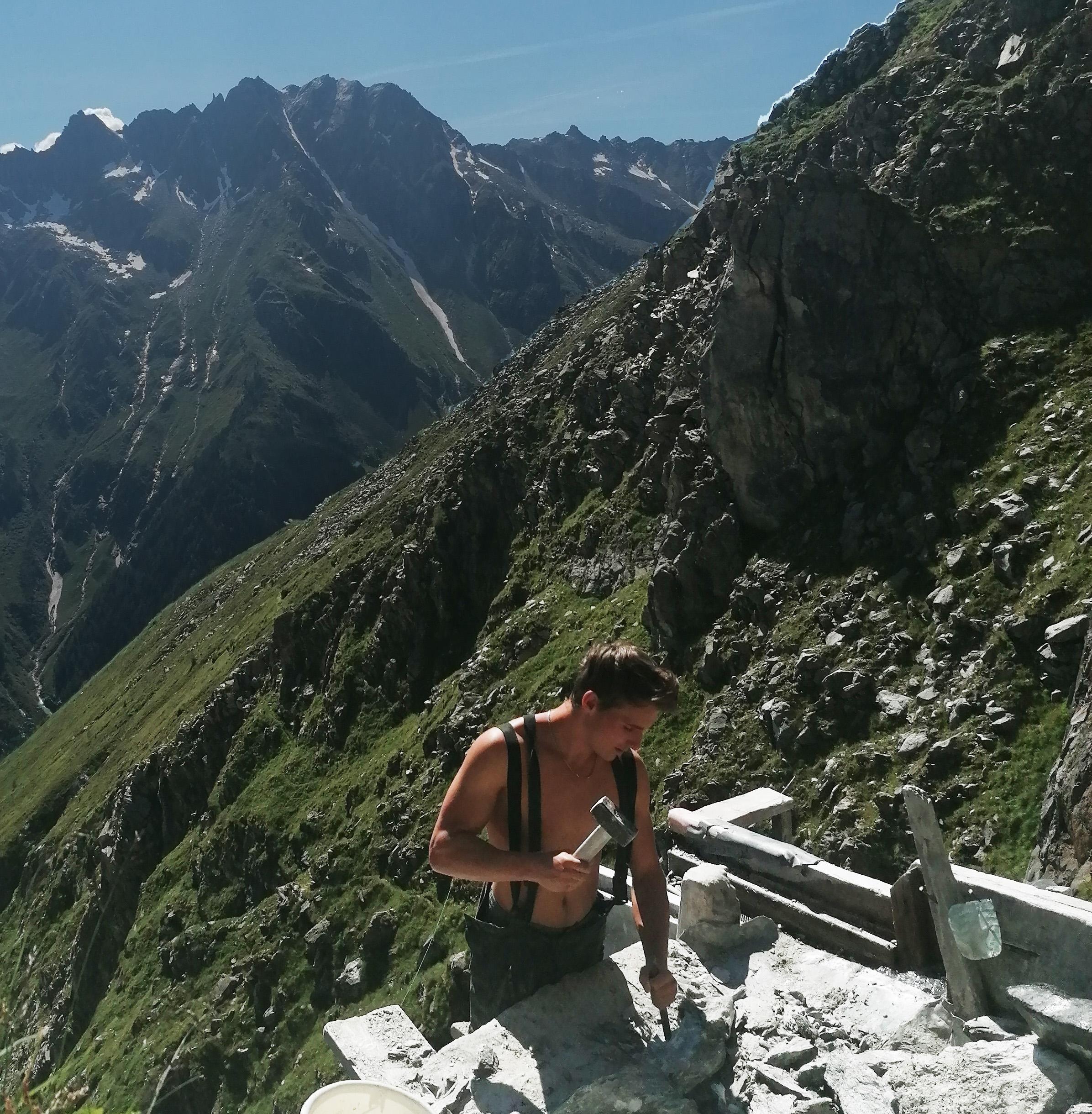 Steiner Andre beim Smaragdbergwerk im Habachtal
