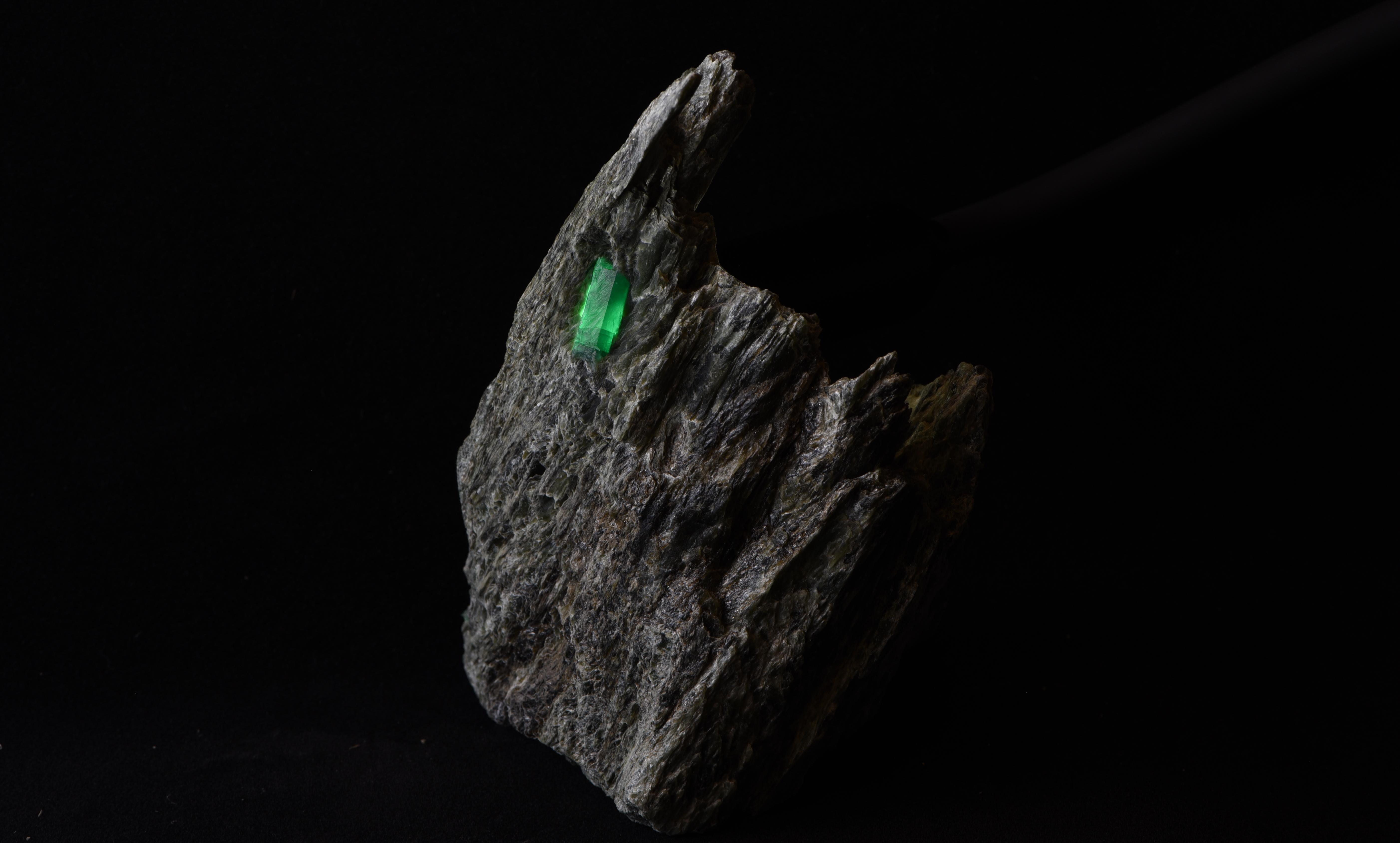 Smaragdstufe aus dem Habachtal
